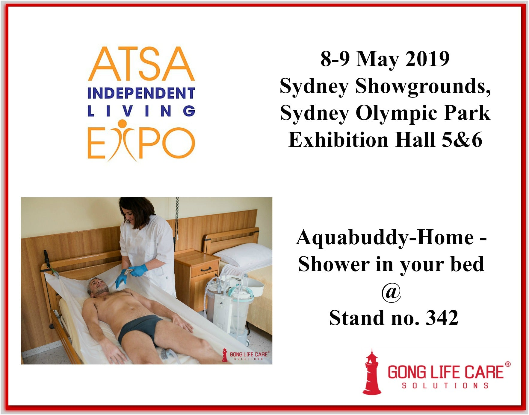 Aquabuddy-Home - Shower in Bed at ATSA Sydney 2019