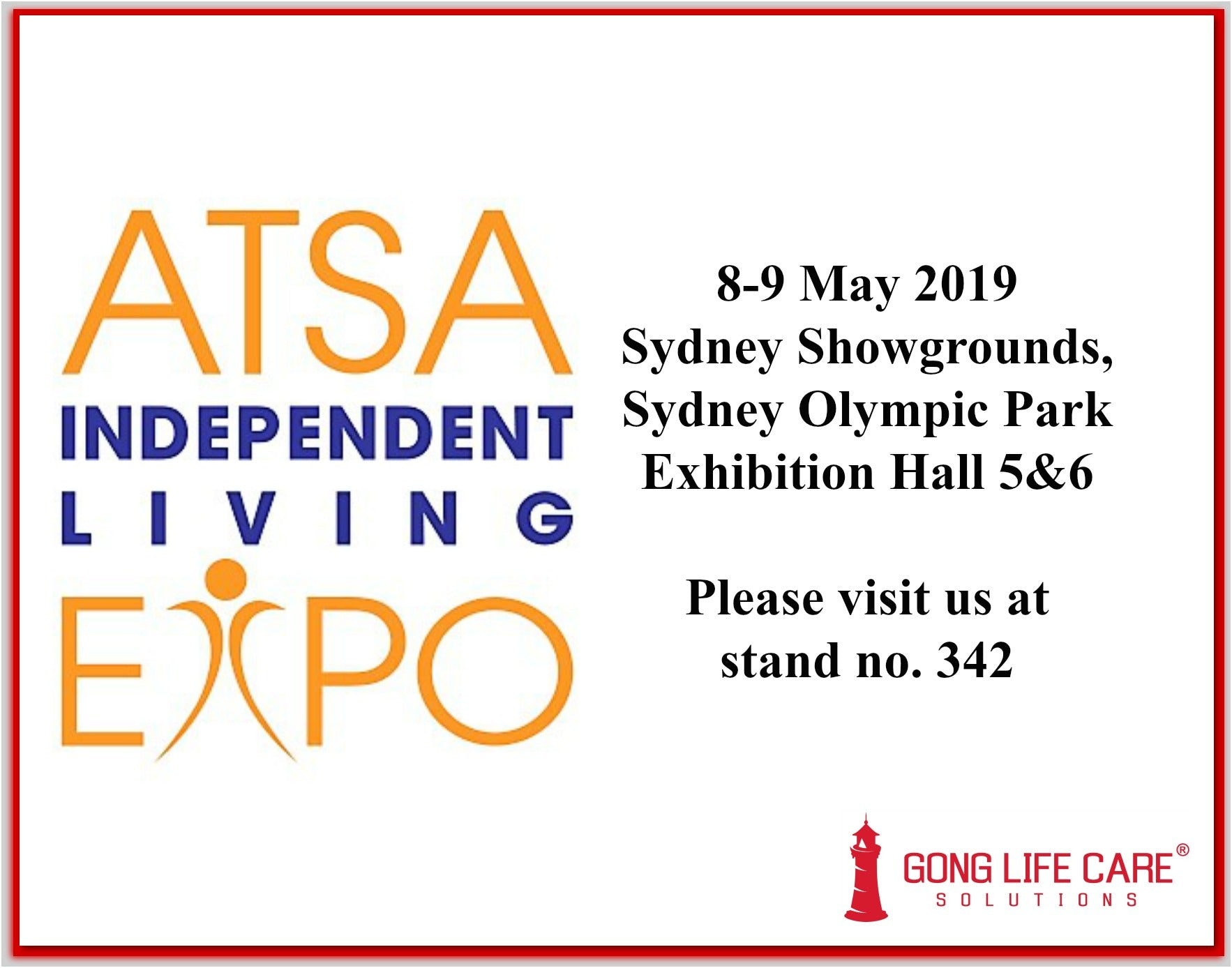 Gong Life Care Solutions at ATSA Sydney May 2019