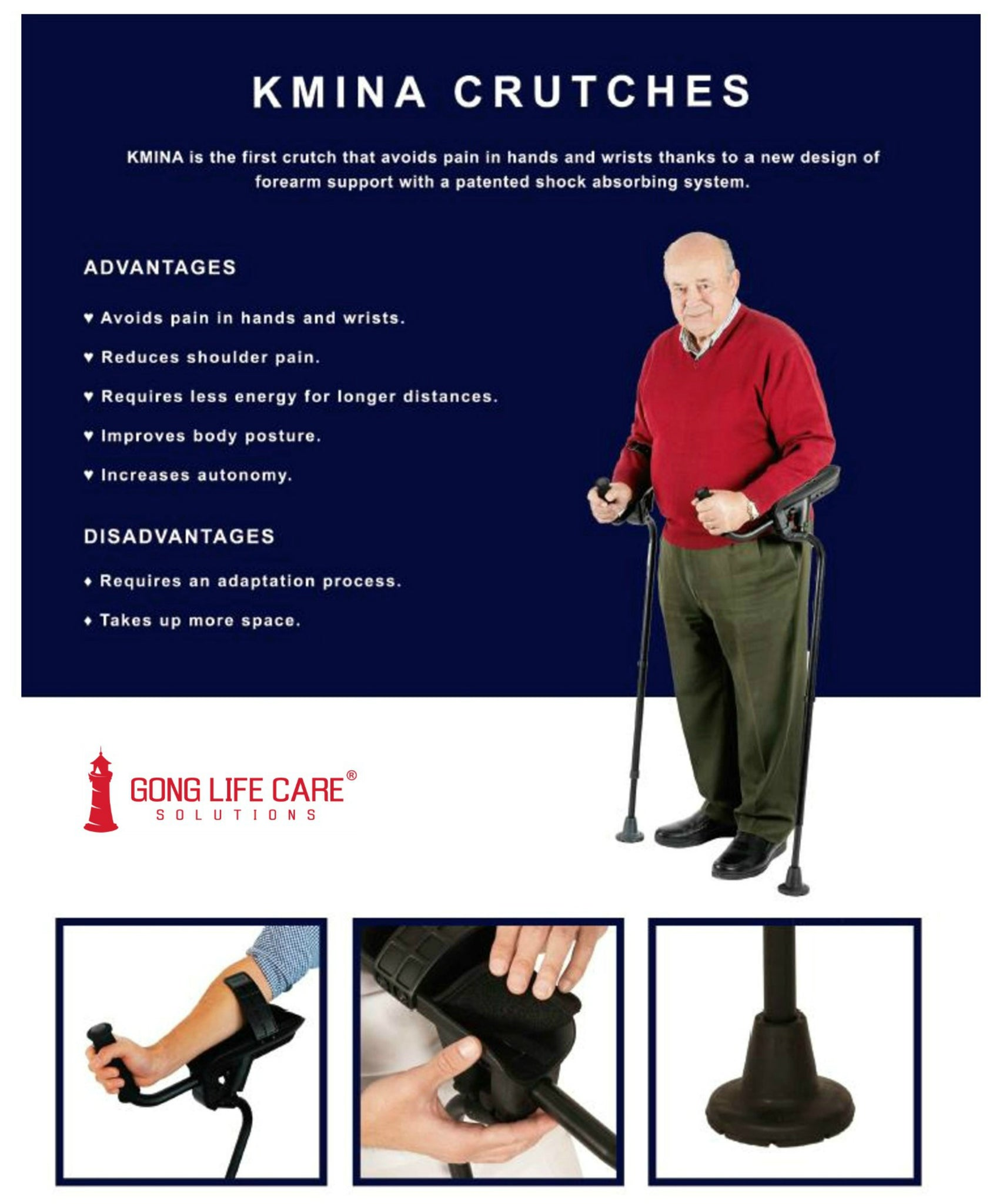Gong Life Care Solutions - KMINA Crutches