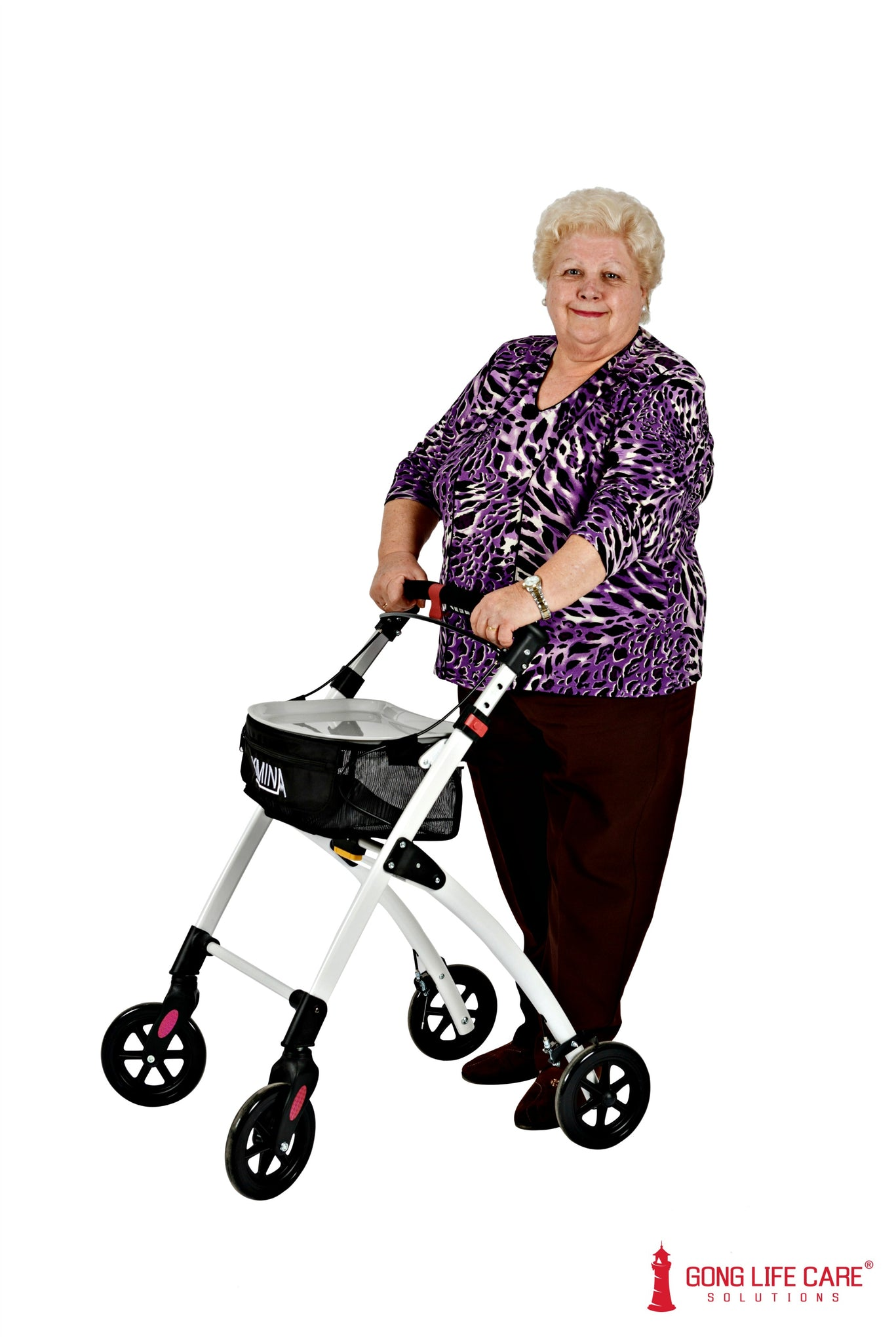 Gong Life Care Solutions - KMINA Indoor Rollator Wheelie Walker