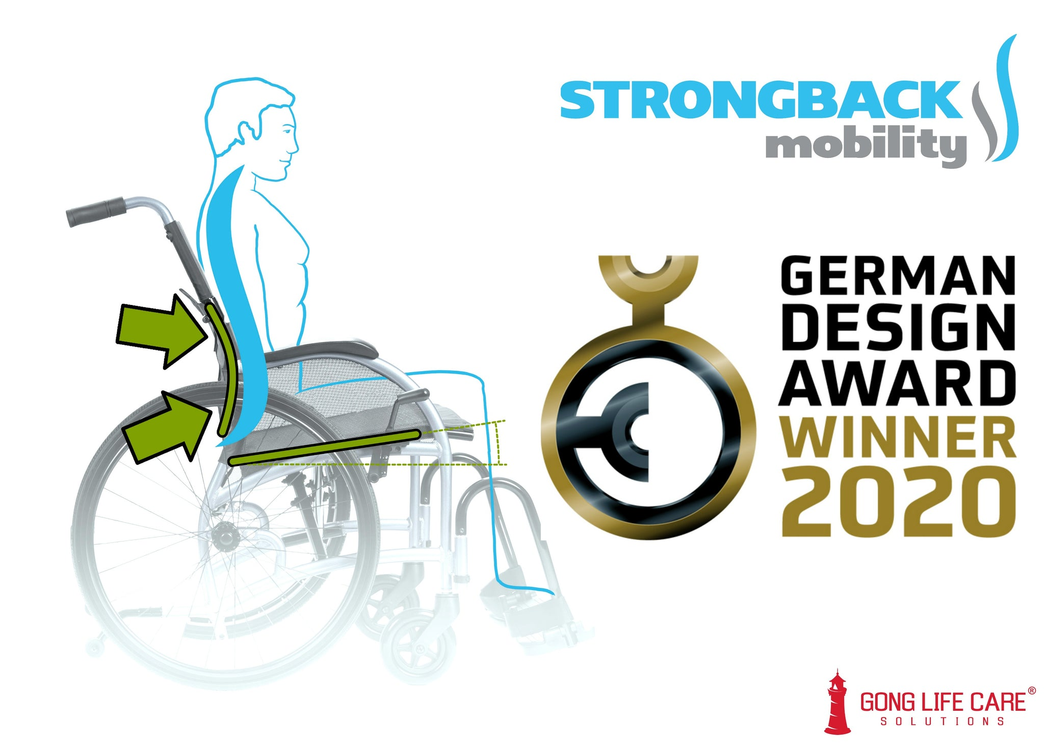STRONGBACK Mobility Wheelchair German Design Award Winner 2020