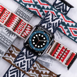 Tefeca Loom and Peyote patterns Stretch Elastic Apple Watch Band 38mm/40mm  42mm/44mm - ELPP