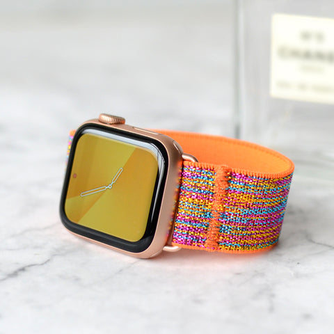 Tefeca Colorful Glitter Elastic Apple Watch Band 38mm/40mm  42mm/44mm - ECG 1