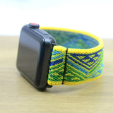 Tefeca Yellow Triangle Line Pattern Stretch Elastic Apple Watch Band 38mm/40mm  42mm/44mm - EYTL