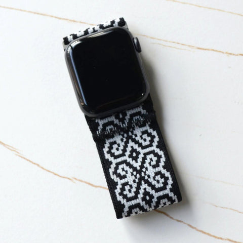 Tefeca Ultra Wide Monochrome Elastic Apple Watch Band 38mm/40mm  42mm/44mm - UMCE