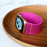 Tefeca Rose Red Glitter Elastic Apple Watch Band 38mm/40mm  42mm/44mm - ERRG