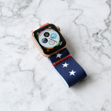 Tefeca Stars and Stripes pattern  Elastic Apple Watch Band 38mm/40mm  42mm/44mm - ESSE