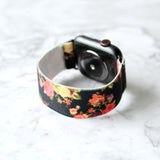 Tefeca Dark Floral Pattern  Elastic Apple Watch Band 38mm/40mm  42mm/44mm - EDPA