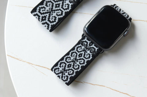 Tefeca Monochrome Stretch Elastic Apple Watch Band 38mm/40mm  42mm/44mm - EMCS