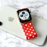 Tefeca Polka dots pattern Red Elastic Apple Watch Band 38mm/40mm  42mm/44mm - EPDP
