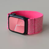 Tefeca Ultra Wide Pink Glitter Elastic Apple Watch Band 38mm/40mm  42mm/44mm - UWBGE