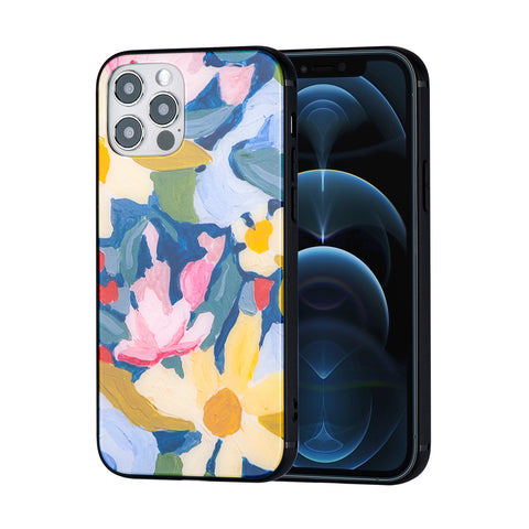 Flower soft rubber case for iPhone 12