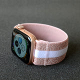 Tefeca Pink Glitter Stripe Elastic Apple Watch Band 38mm/40mm  42mm/44mm - EPGS