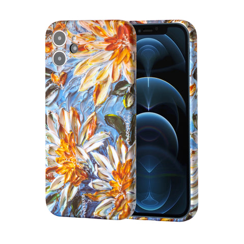 Flower painting soft rubber case for iPhone 12
