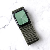 Tefeca Ultra Wide Army Green Patterned Elastic Apple Watch Band 38mm/40mm  42mm/44mm - UWAGE