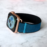 Tefeca Aqua Blue Glitter Stretch Elastic Apple Watch Band 38mm/40mm  42mm/44mm - EBGL