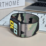 Tefeca Ultra Wide Camouflage Patterned Elastic Apple Watch Band 38mm/40mm  42mm/44mm