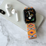 Tefeca Aztec Pattern Stretch Elastic Apple Watch Band 38mm/40mm  42mm/44mm-EA1
