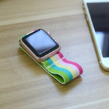 Tefeca Colorful Stripe Elastic Apple Watch Band 38mm/40mm  42mm/44mm - ECS