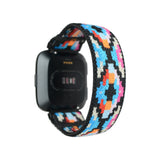 Tefeca Geometry Pattern Stretch Elastic Watch Band For Fitbit Versa/Versa 2/ Versa Lite/Versa SE - EG