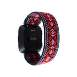 Tefeca Red Embroidery Ethnic Pattern Stretch Elastic For Fitbit Versa - EREE