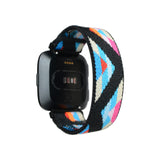 Tefeca Chevron Pattern Stretch Elastic Watch Band For Fitbit Versa/Versa 2/ Versa Lite/Versa SE - EV