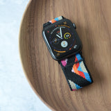 Tefeca Chevron Pattern Stretch Elastic Apple Watch Band 38mm/40mm  42mm/44mm - EV