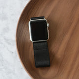 Tefeca Black Satin Stretch Elastic Apple Watch Band 38mm/40mm  42mm/44mm - EBS