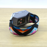 Tefeca Chevron Pattern Stretch Elastic Watch Band For Fitbit Ionic - EV