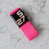 Tefeca Ultra Wide Pink Patterned Elastic Apple Watch Band 38mm/40mm  42mm/44mm - UWPPE