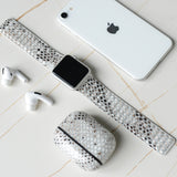 Tefeca Snake Pattern Calf Leather Magnet Loop Apple Watch Band 38mm/40mm  42mm/44mm - EABB