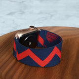 Tefeca Red&Blue Triangle Pattern Stretch Elastic Apple Watch Band 38mm/40mm  42mm/44mm - ERBT