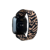 Tefeca Zebra Pattern Stretch Elastic Watch Band For Fitbit Versa/Versa 2/ Versa Lite/Versa SE - EZBP