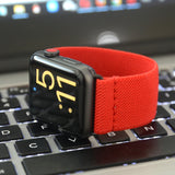 Tefeca Red Colored Stretch Woven Elastic Apple Watch Band 38mm/40mm  42mm/44mm - EREW