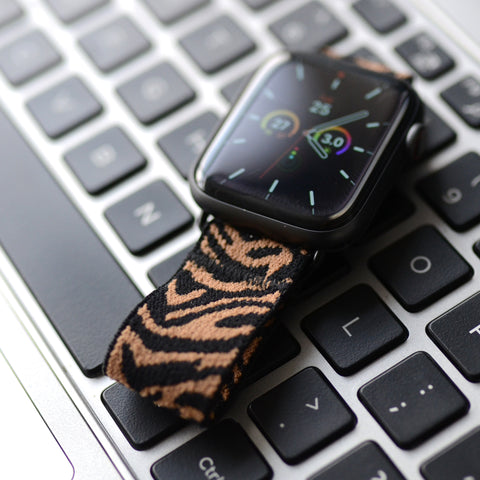 Tefeca Zebra Pattern Elastic Apple Watch Band  38mm/40mm  42mm/44mm - EZBP