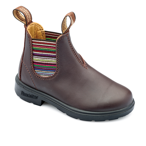 Blundstone 1413 - Kids Brown Striped Elastic