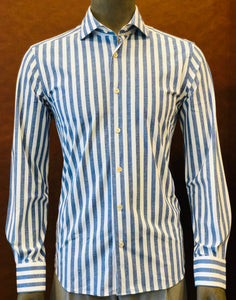 Corneliani Navy Stripe Shirt