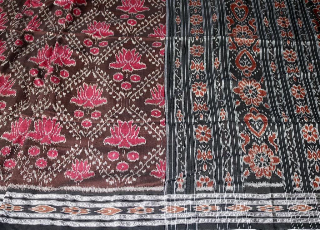 BROWN & PINK IKAT