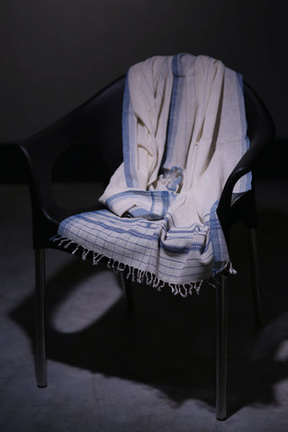 KHADI COTTON STOLE STRIPE