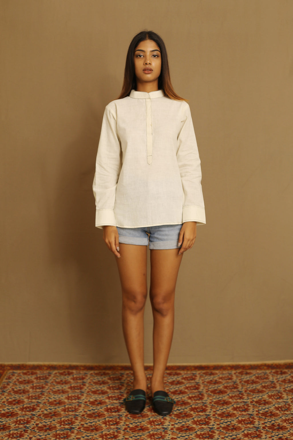 Cream - Kurta Top