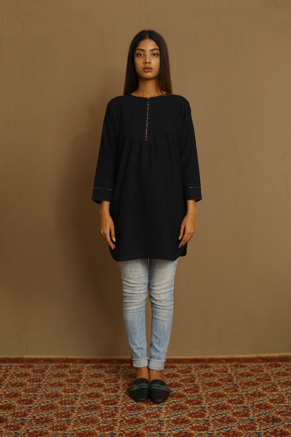 Black - Kurta Top