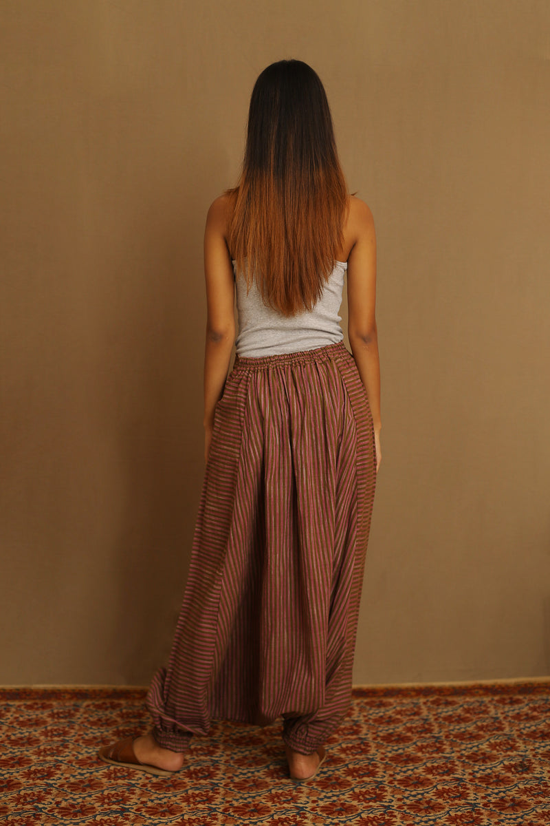 Brown & Pink - Drop Crotch Pants