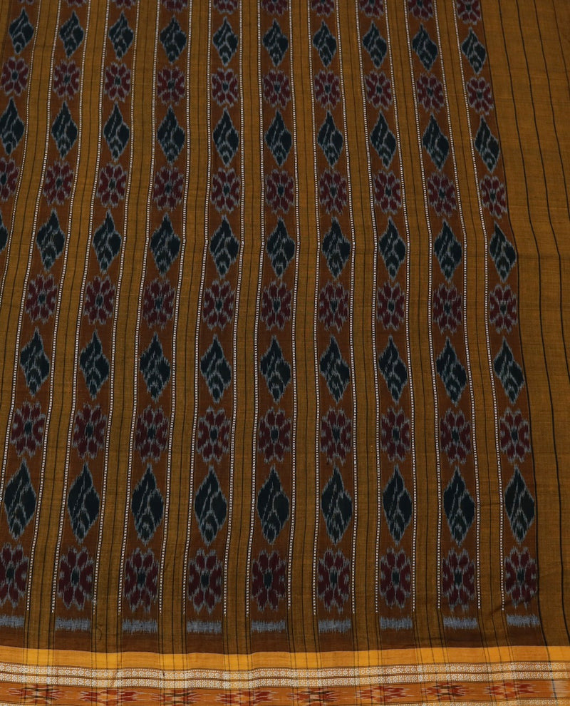 BLACK & MUSTARD COTTON IKAT