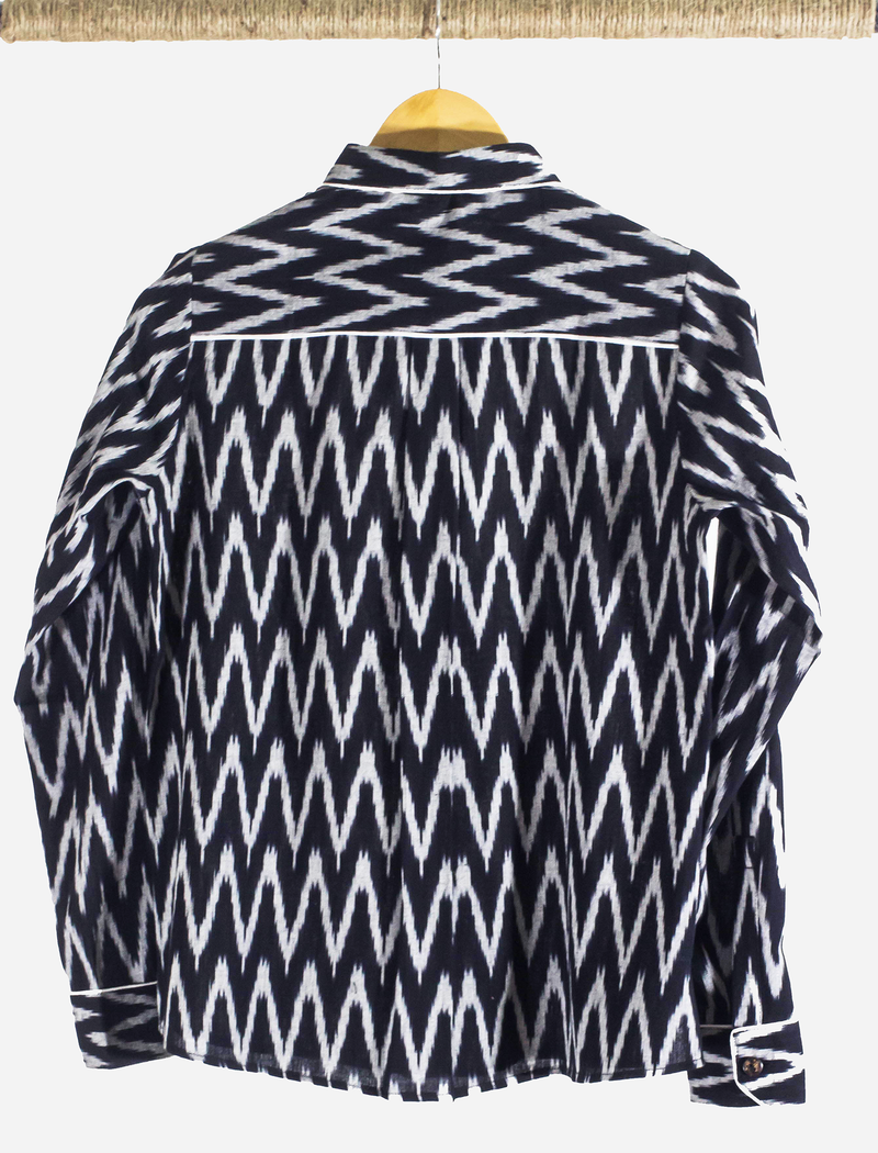 Black Ikat Top