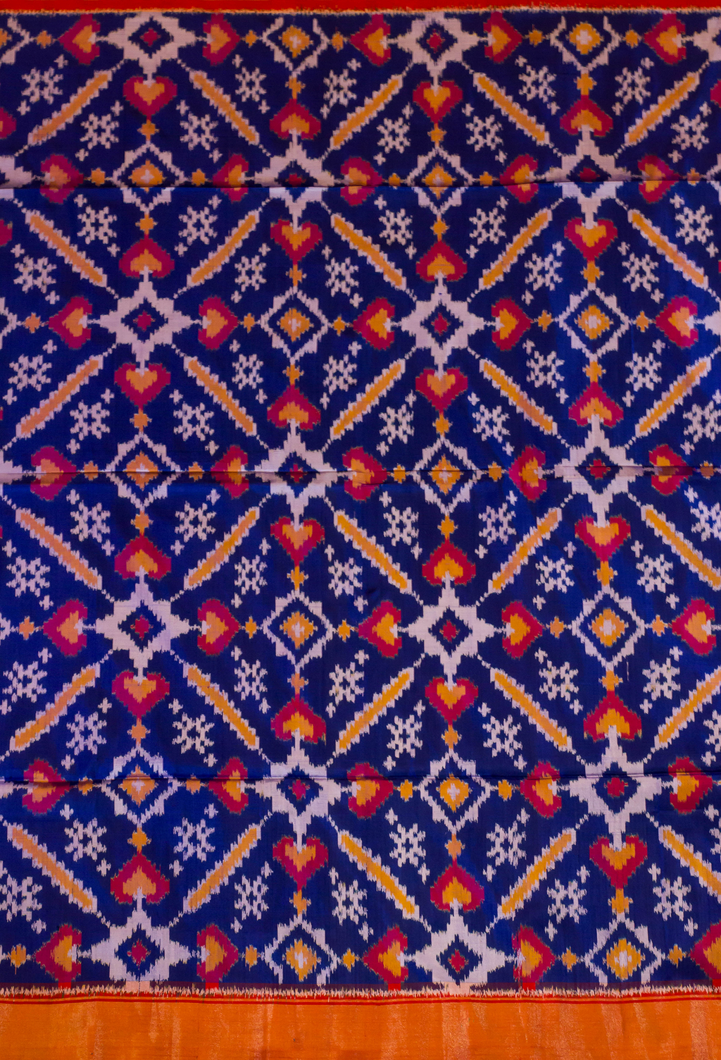 Persian Blue Pochampally Silk