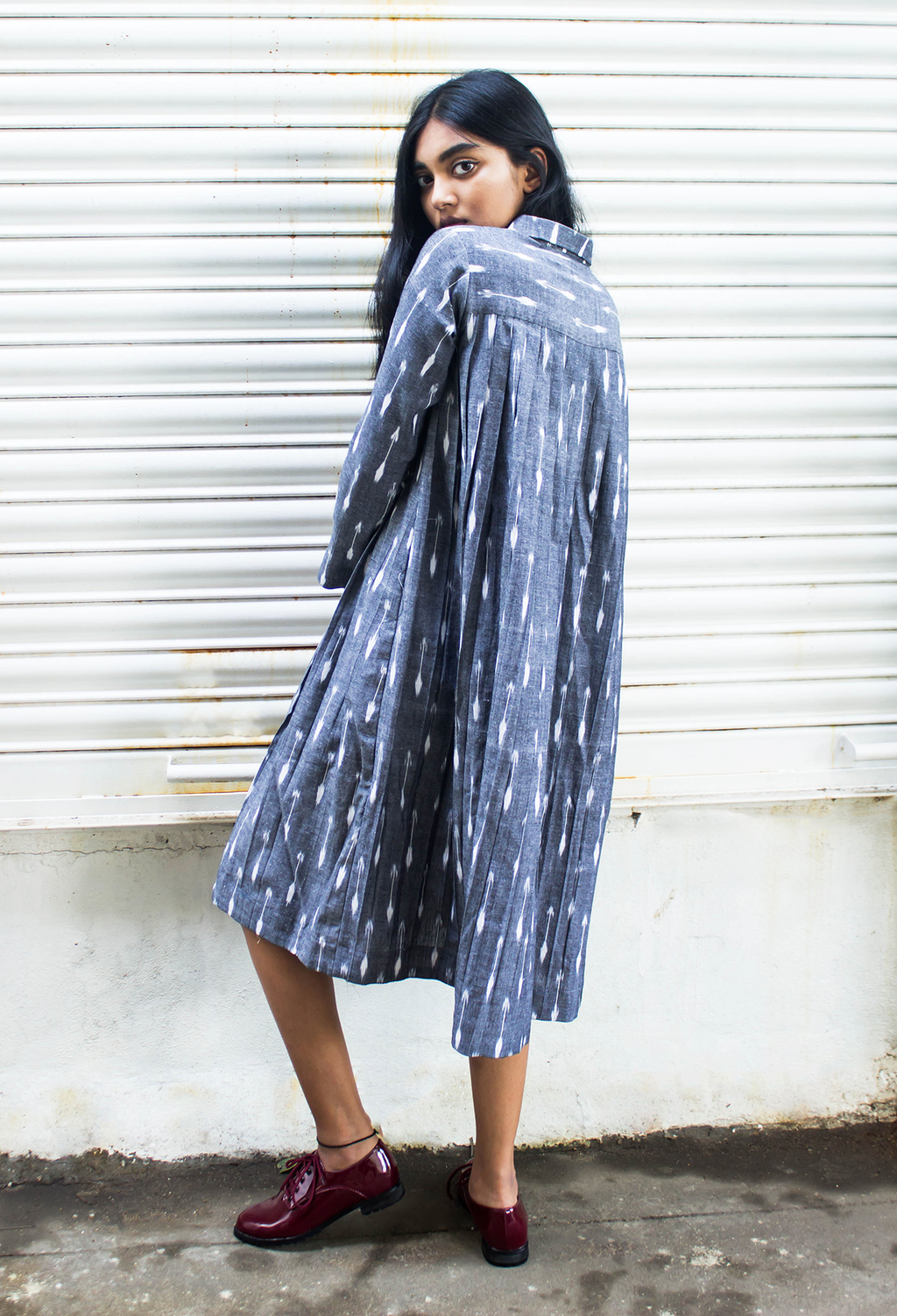 Grey Ikat Dress