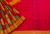 Red and Gold Pochampally Silk