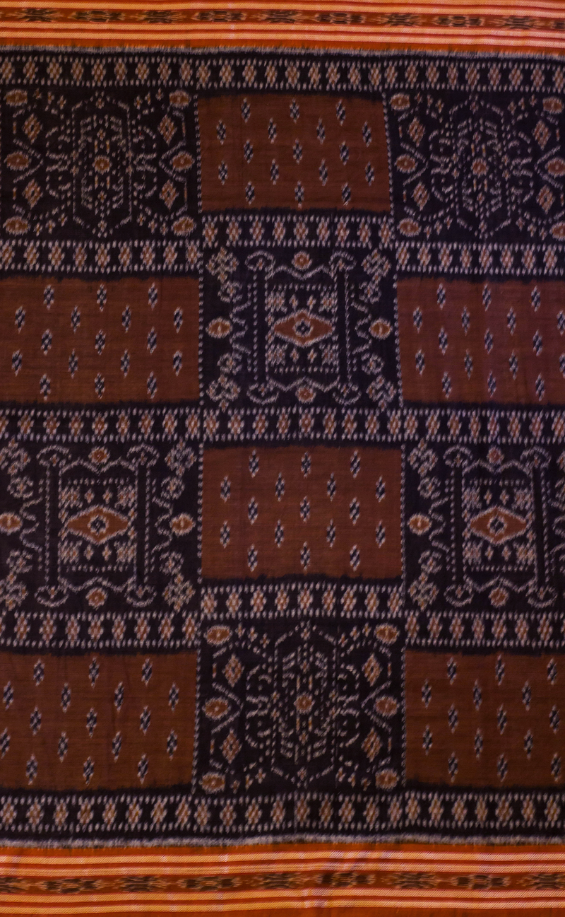 Black and Brown Cotton Ikat