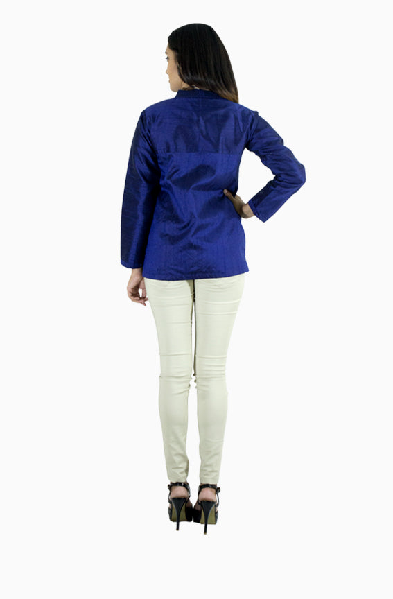 Raw Silk Top