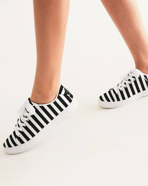 Black & White Women's Faux-Leather Sneaker